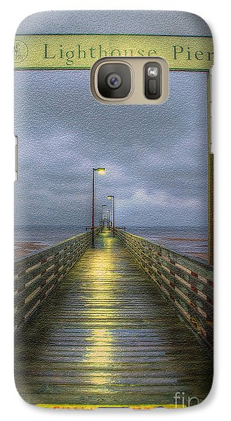 Galaxy Case featuring the photograph Lighthouse Pier by Maddalena McDonald