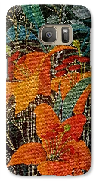 Galaxy Case featuring the painting Lilies by Marina Gnetetsky