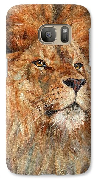 Lion Galaxy S7 Case by David Stribbling
