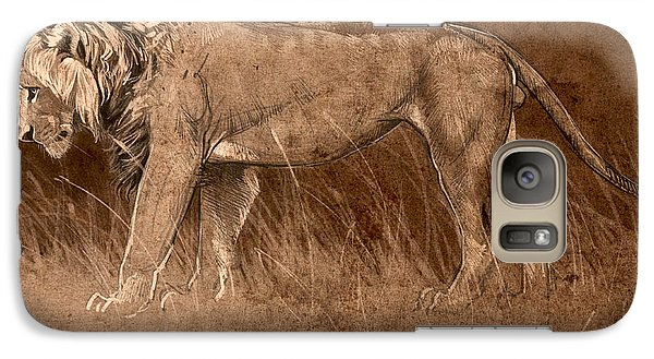 Galaxy Case featuring the digital art Lion Sketch by Aaron Blaise