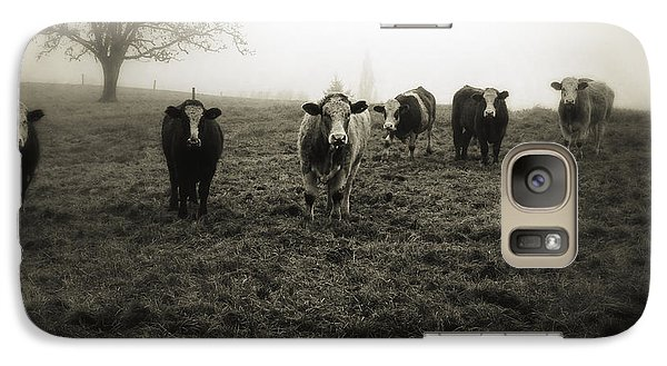 Cow Galaxy S7 Case - Livestock by Les Cunliffe