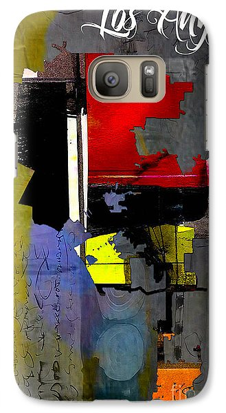 Los Angeles Map Watercolor Galaxy Case by Marvin Blaine