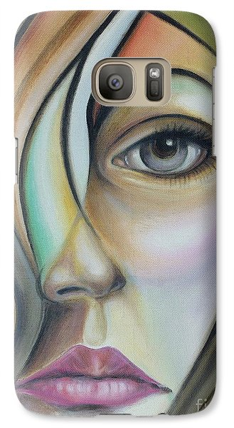 Galaxy Case featuring the painting Lost 150808 by Selena Boron