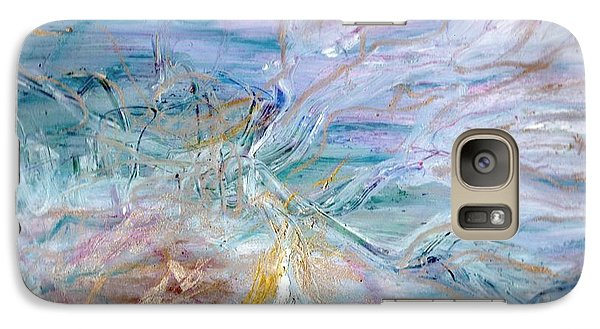 Galaxy Case featuring the painting Lost Angel by Lesley Fletcher