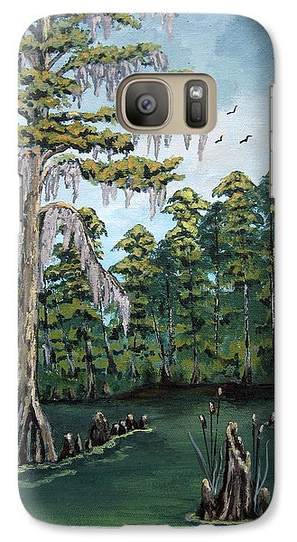 Galaxy Case featuring the painting Louisiana Cypress by Suzanne Theis