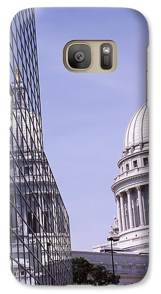 Low Angle View Of A Government Galaxy Case by Panoramic Images