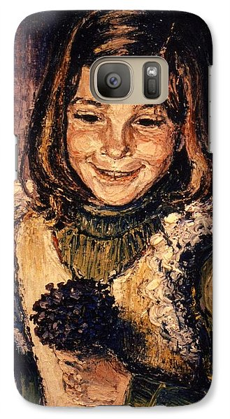 Galaxy Case featuring the painting Luisa Fernanda by Walter Casaravilla