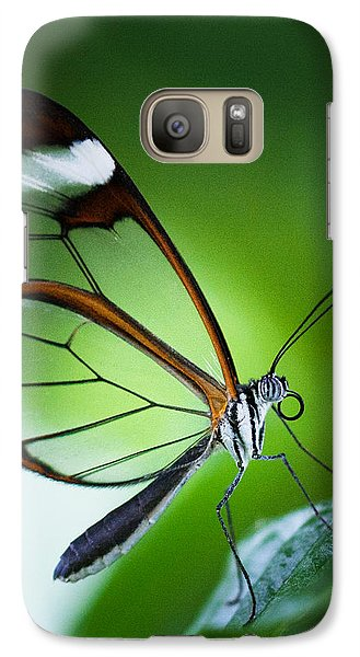 Galaxy Case featuring the photograph Macro Photograph Of A Glasswinged Butterfly by Zoe Ferrie
