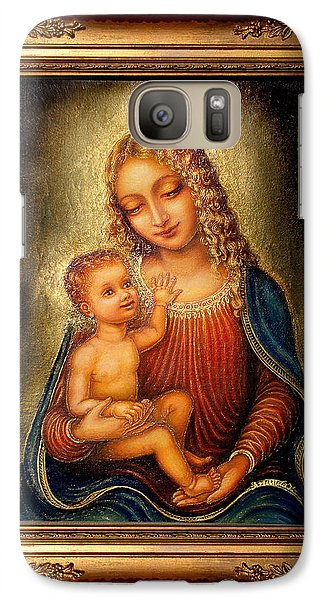 Galaxy Case featuring the painting Madonna Beata by Ananda Vdovic