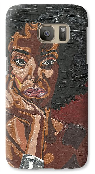 Galaxy Case featuring the painting Mahogany by Rachel Natalie Rawlins