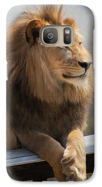 Majestic Lion Galaxy S7 Case by Sharon Foster