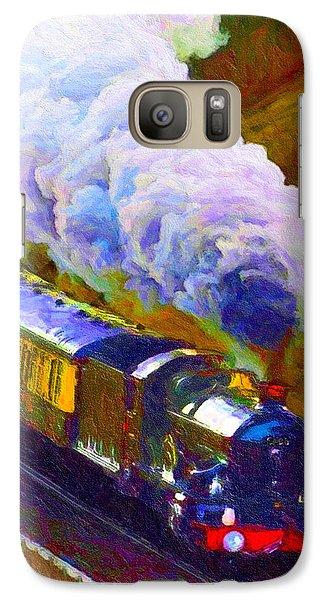 Galaxy Case featuring the digital art Making Smoke by Chuck Mountain