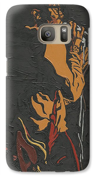 Galaxy Case featuring the painting Martin Luther Mccoy by Rachel Natalie Rawlins