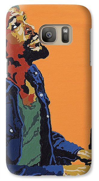 Galaxy Case featuring the painting Marvin Gaye by Rachel Natalie Rawlins