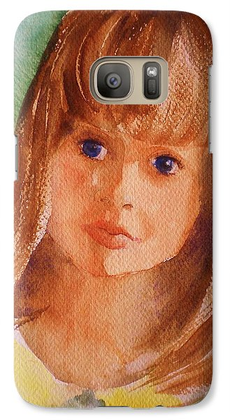 Galaxy Case featuring the painting Mary's Little Girl by Suzanne McKay