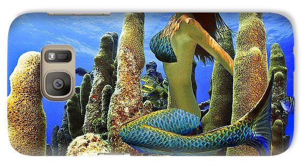 Galaxy Case featuring the photograph Masked Mermaid by Paula Porterfield-Izzo