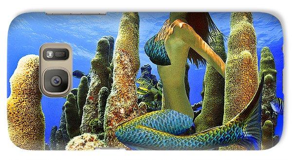 Masked Mermaid Galaxy S7 Case by Paula Porterfield-Izzo