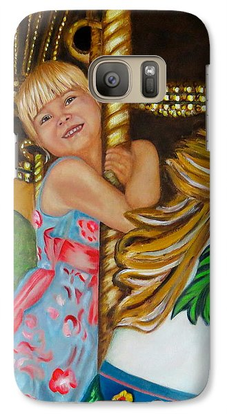 Galaxy Case featuring the painting Merry-go-round by Sharon Schultz