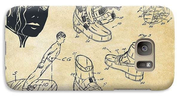 Michael Jackson Anti-gravity Shoe Patent Artwork Vintage Galaxy S7 Case by Nikki Marie Smith
