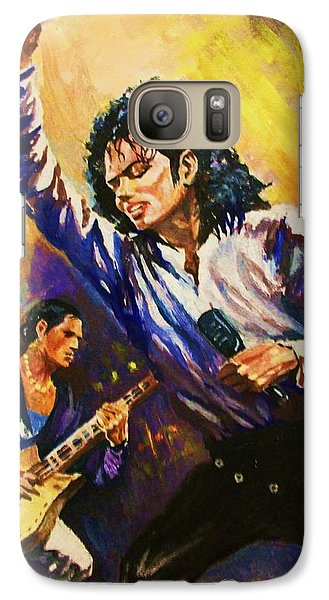 Galaxy Case featuring the painting Michael Jackson In Concert by Al Brown