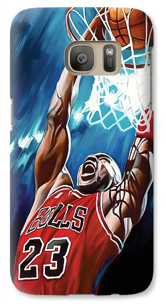 Michael Jordan Artwork Galaxy Case by Sheraz A