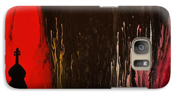 Galaxy Case featuring the painting Mingus by Michael Cross