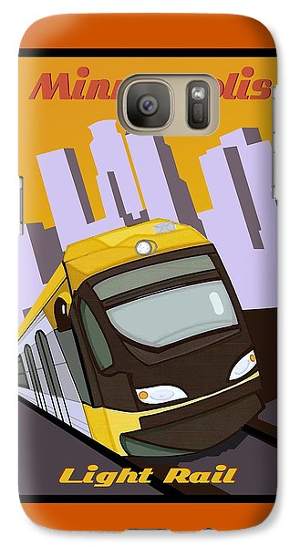 Galaxy Case featuring the painting Minneapolis Light Rail Travel Poster by Jude Labuszewski
