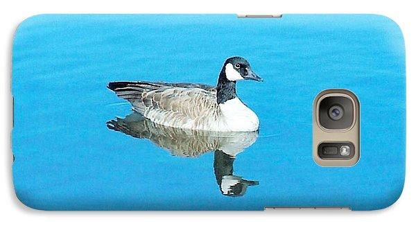 Galaxy Case featuring the photograph Mirror Goose by Kerri Mortenson
