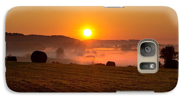 Galaxy Case featuring the photograph Misty Ridge by Everett Houser