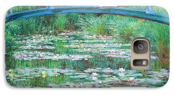 Galaxy Case featuring the photograph Monet's The Japanese Footbridge by Cora Wandel