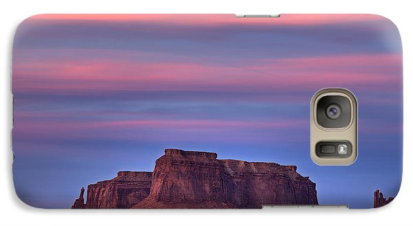 Galaxy Case featuring the photograph Monument Valley Sunset by Alan Vance Ley