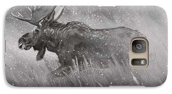 Galaxy Case featuring the digital art Moose Sketch by Aaron Blaise