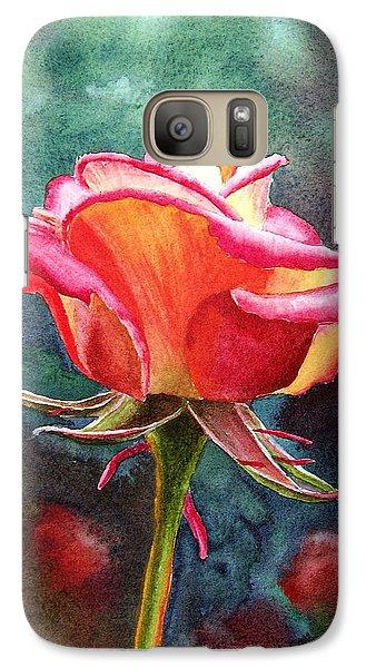 Rose Galaxy S7 Case - Morning Rose by Irina Sztukowski