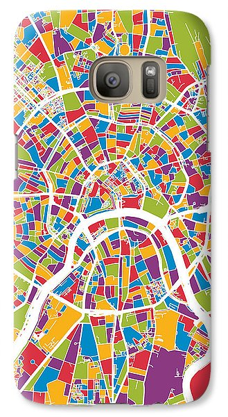 Moscow City Street Map Galaxy S7 Case
