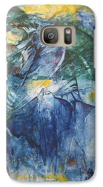 Galaxy Case featuring the painting Mother And Child by Diana Bursztein