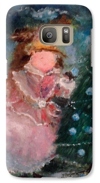 Galaxy Case featuring the painting Mother Christmas by Laurie L
