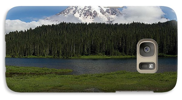 Galaxy Case featuring the photograph Mount Rainier From Reflection Lake by Bob Noble Photography