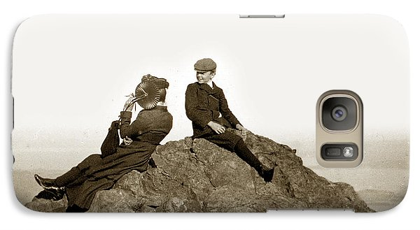 Galaxy Case featuring the photograph Mount Tamalpais Marin County  Circa 1902 by California Views Mr Pat Hathaway Archives