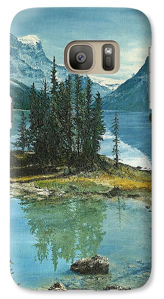 Galaxy Case featuring the painting Mountain Island Sanctuary by Mary Ellen Anderson