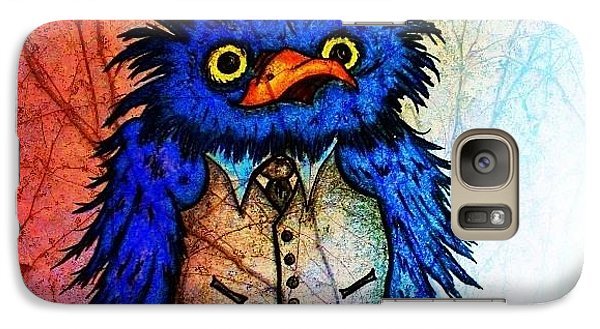 Galaxy Case featuring the painting Mr Blue Bird by Vickie Scarlett-Fisher