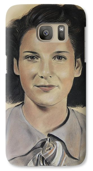Galaxy Case featuring the painting Mrs Crye by Glenn Beasley