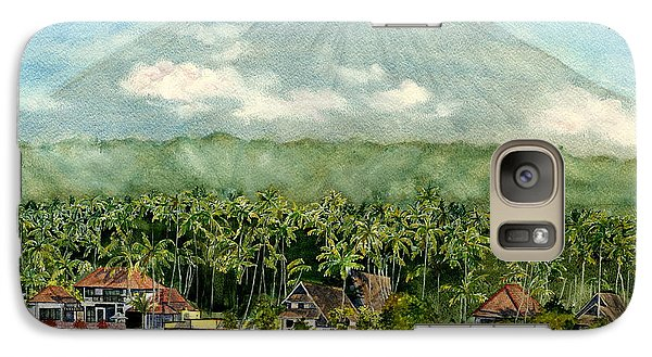 Galaxy Case featuring the painting Mt. Agung Bali Indonesia by Melly Terpening