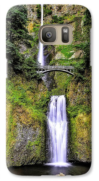 Galaxy Case featuring the photograph Multnomah Morning Colors by Nancy Marie Ricketts