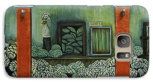 Mural On A Wall, Cancun, Yucatan, Mexico Galaxy S7 Case by Panoramic Images