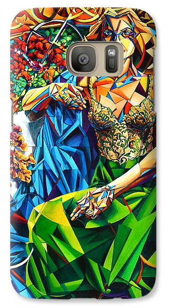 Galaxy Case featuring the painting Muse  Summer by Greg Skrtic