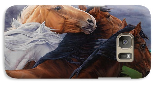 Galaxy Case featuring the painting Mutual Support by JQ Licensing