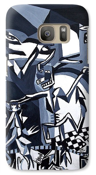 Galaxy Case featuring the painting My Inner Demons by Ryan Demaree