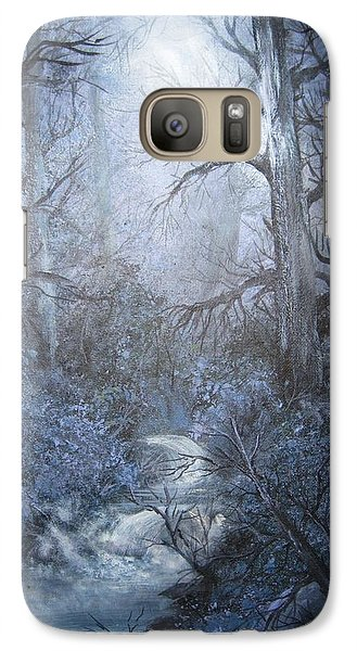 Galaxy Case featuring the painting Mystery by Megan Walsh