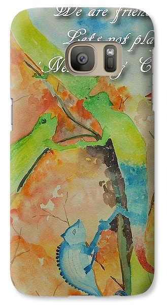 Galaxy Case featuring the painting Networking by Geeta Biswas