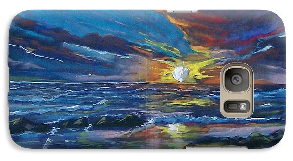 Galaxy Case featuring the pastel Never Ending Sea by Peter Suhocke
